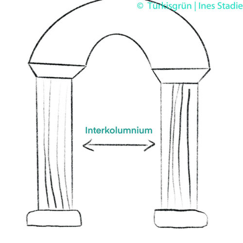 schematische Skizze eines Interkolumniums
