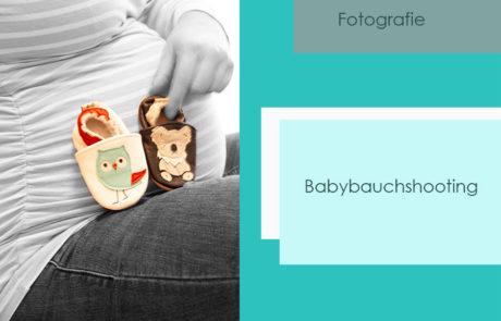 Babybauchshooting-Fotografie-tuerkisgruen
